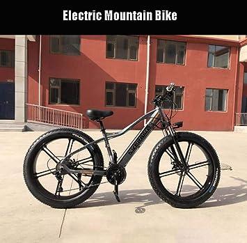 AISHFP Los Hombres Adultos Fat Tire Bicicleta eléctrica de montaña ...