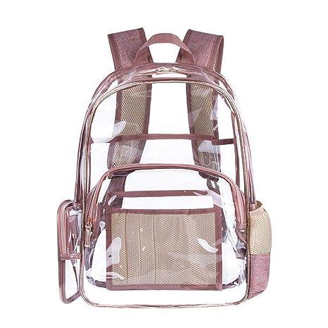 selezione migliore 05283 463fc FOONEE - Zaino in PVC trasparente, rosa PVC zaino PVC multi ...