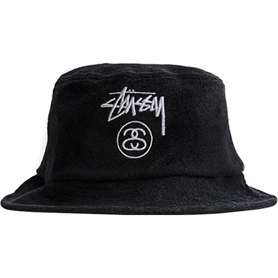 254a03fb069 Stussy Mens Terry Stock Lock Bucket Hat Cap Large X-Large Black  Amazon.in   Clothing   Accessories