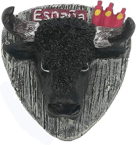 Imán 3D para nevera, diseño de cabeza de toro de España, decoración del hogar y la cocina, imán magnético para nevera de España: Amazon.es: Hogar
