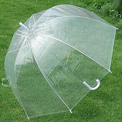 """funnytoday 21 """"transparente claro lluvia paraguas sombrilla para boda fiesta de cúpula ..."""