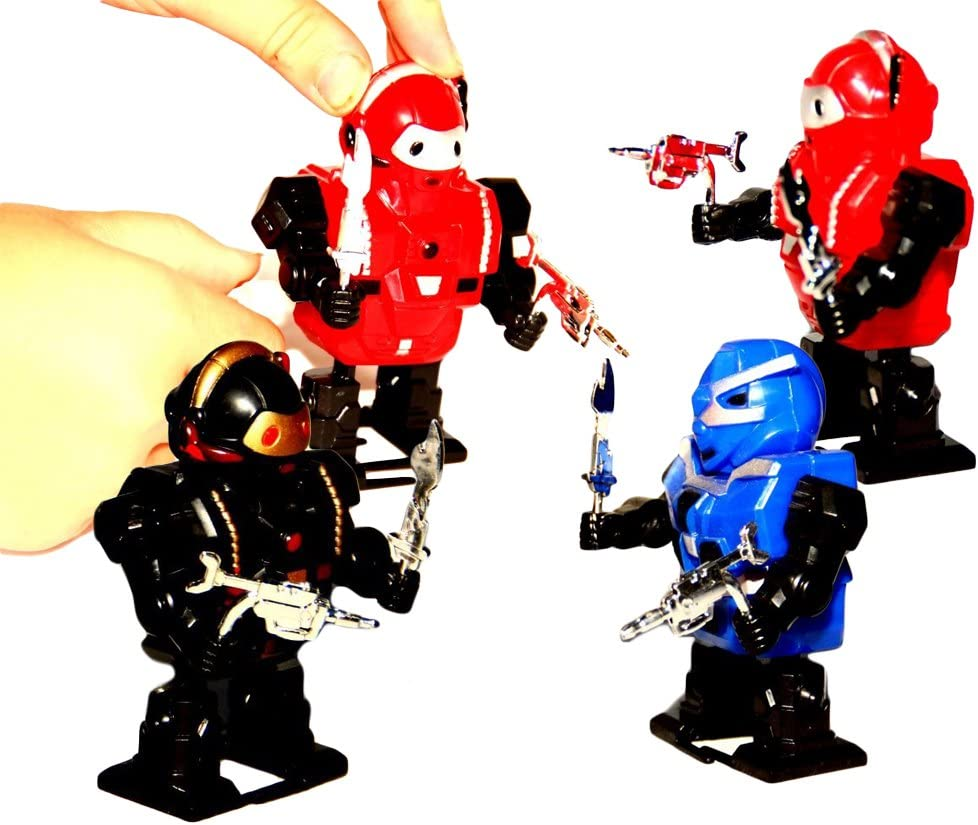12 Pieces Toy Cubby Assorted Wind-up Action Robots