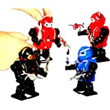 Toy Cubby Assorted Wind-up Action Robots - 6 Pieces