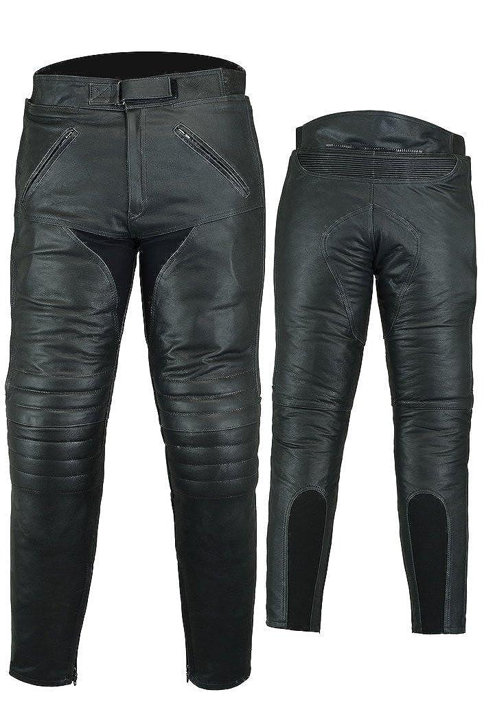 Bikers Gear Australia Pantalon de moto en cuir Sturgis renforts certifi/és CE