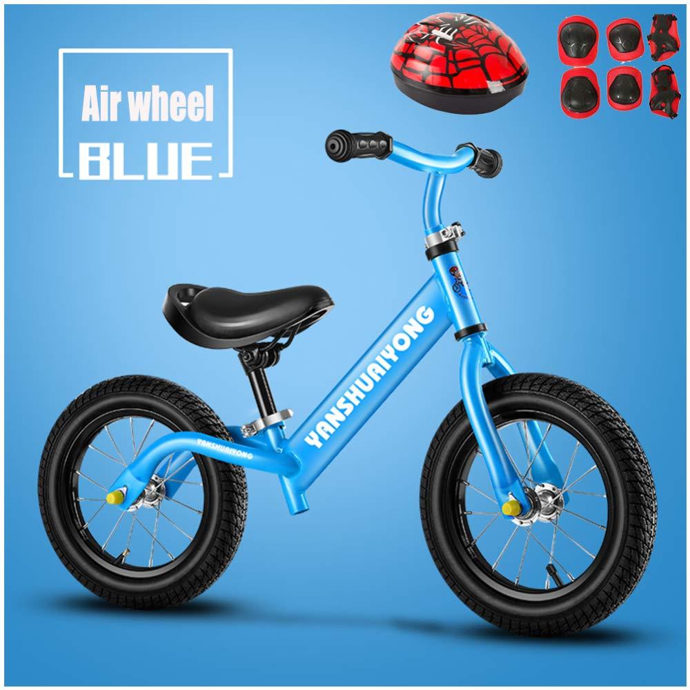 GSDZN - 12 Zoll Kinder Laufrad Lernlaufrad Balance Bike   Verstellbarer Lenker Und Sitzhöhe   Helm Und Schutzausrüstung   Luftrad Eva-Rad   2-6 Jahre   80-120 cm,C B