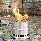 BBQ Camping Stove Portable Outdoor Wood Burning Backpacking Emergency Survival