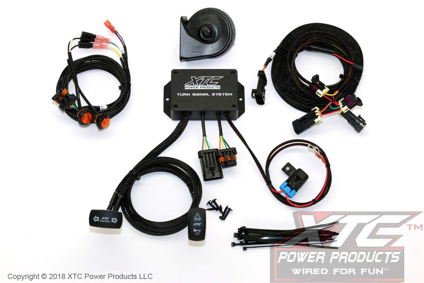 XTC Power Products Honda Pioneer 1000 Street Legal Turn Signal System with Horn - Plug & Play - Uses Factory Tail Lights by XTC Motorsports