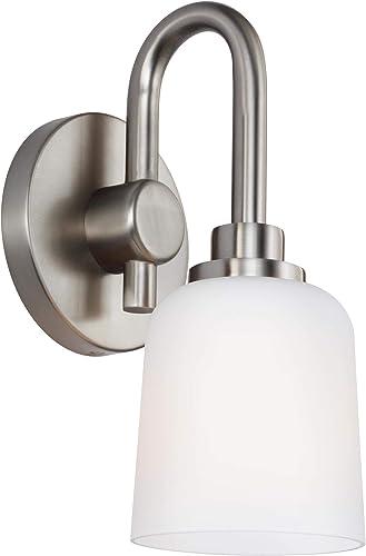 Feiss VS23901SN Reiser Glass Wall Sconce Lighting
