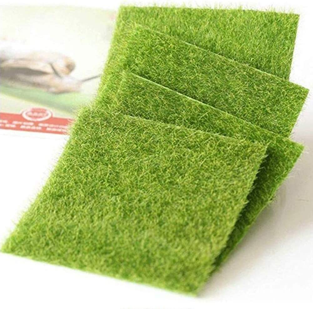 Artificial Moss Fake Craft Green Plant Landscape Faux Grass Cafe Garden Decor
