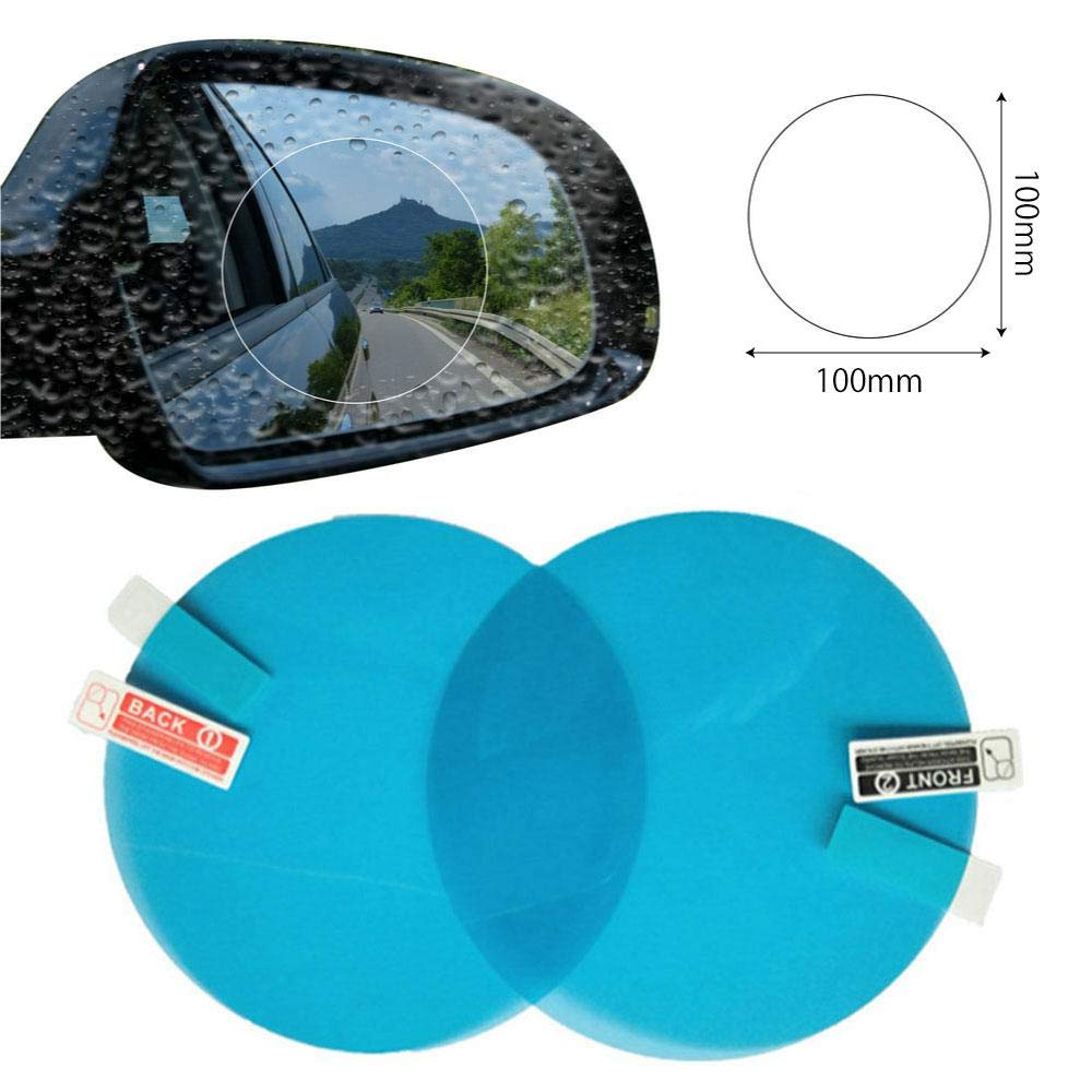 Regenschutz Nano-Folie Folien-Zubeh/ör klar Antibeschlag//blendfrei//Kratzfest//wasserfest//regendicht FOONEE Auto-R/ückspiegelfolie 2 St/ück f/ür R/ückspiegel-Fenster
