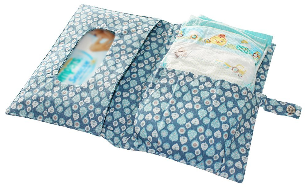 Boubalou WOODY Bleu Tissu Sac /à langer