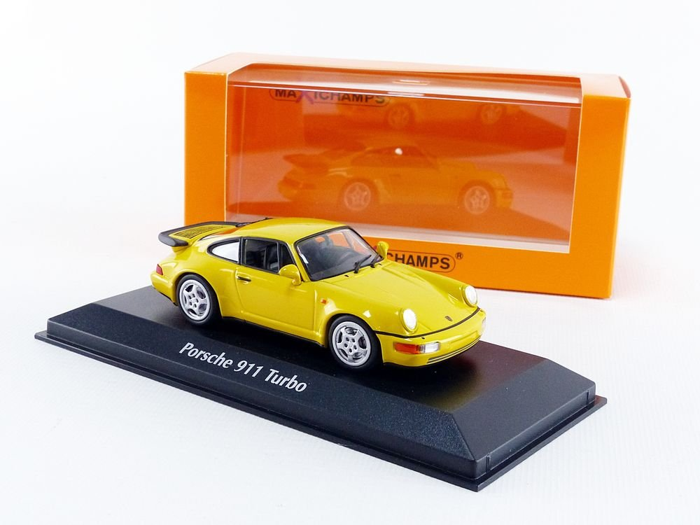 Amazon.com: Maxichamps 1:43 1990 Porsche 911 Turbo (964) - Yellow - 940069104: Toys & Games
