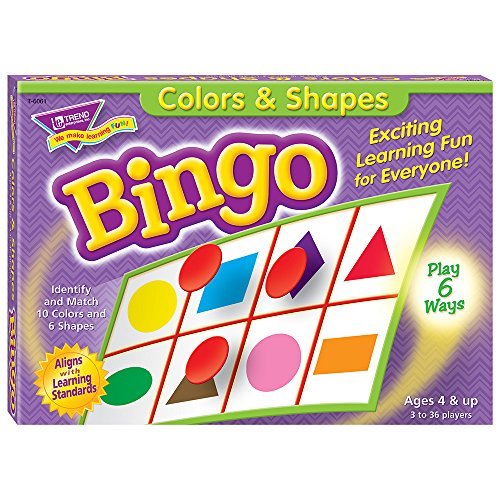Colors And Shapes Bingo, For Ages 4 And Up -