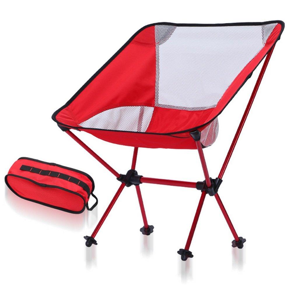 Tragbarer Faltbar Camping Stühle Klappstuh Campingstuhl Freizeitstuhl Campingstühle Strandstuhl stark und haltbarer Ultraleichter mit Tragetasche für Wandern, Angeln, Strand, Freien
