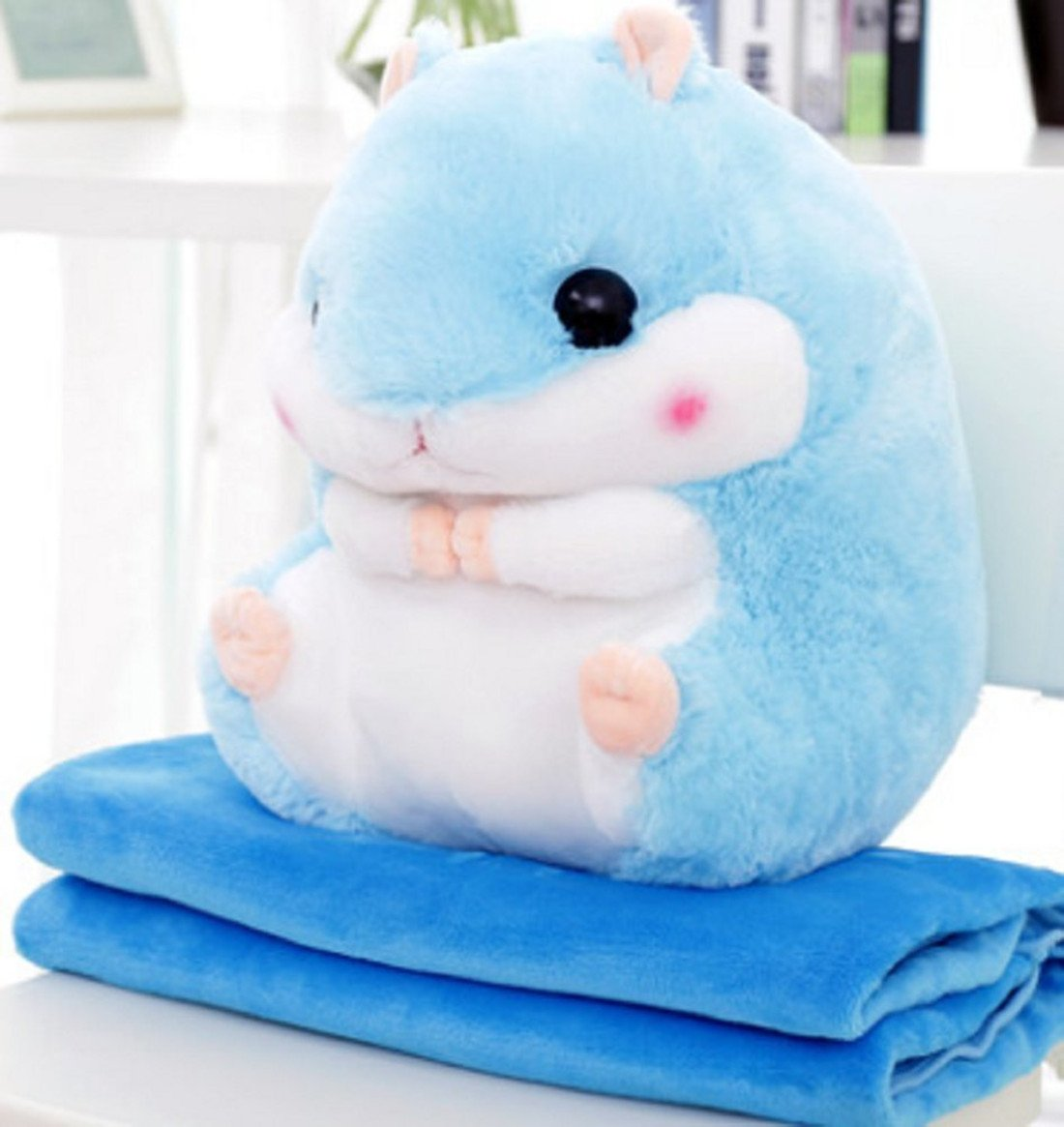 Missley Hamster Pillow Cute Plush Hamster Short and Super Funny Decortion Toy gift for girlfriend Kids