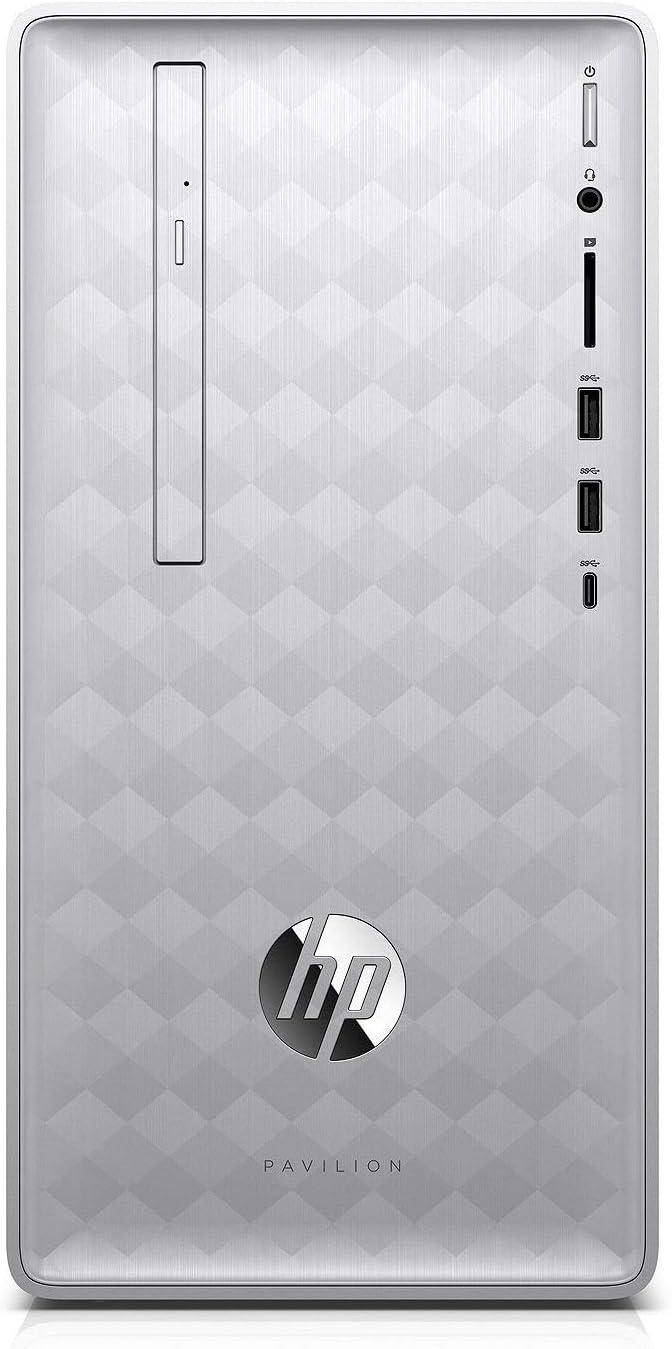 HP Pavilion 590 2018 Desktop Computer, 8th Generation Intel 6 Cores i5-8400 Up to 4.0GHz, 32GB DDR4 RAM, 1TB HDD + 512GB SSD, Bluetooth 4.2, WiFi 802.11AC, USB 3.1, HDMI, Windows 10
