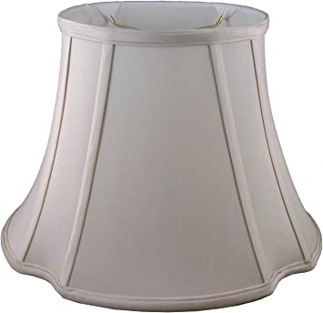 Light Beige American Pride 9x 17x 11.5 Round Soft Shantung Tailored Lampshade
