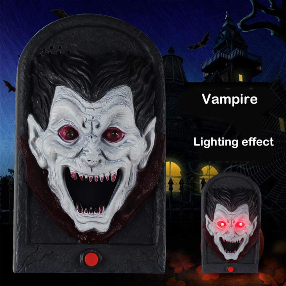 Pleasay Halloween Decorative LED Light Doorbell with Spooky Sounds Haunted House Prop Lamp Halloween Party Prop Decoration Benefit by Pleasay (Image #7)