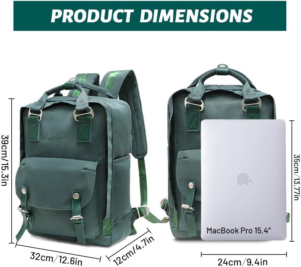 ZOMAKE Cute Backpack Teen Girls Water Resistant College Bookbag Vintage School Backpacks for Women