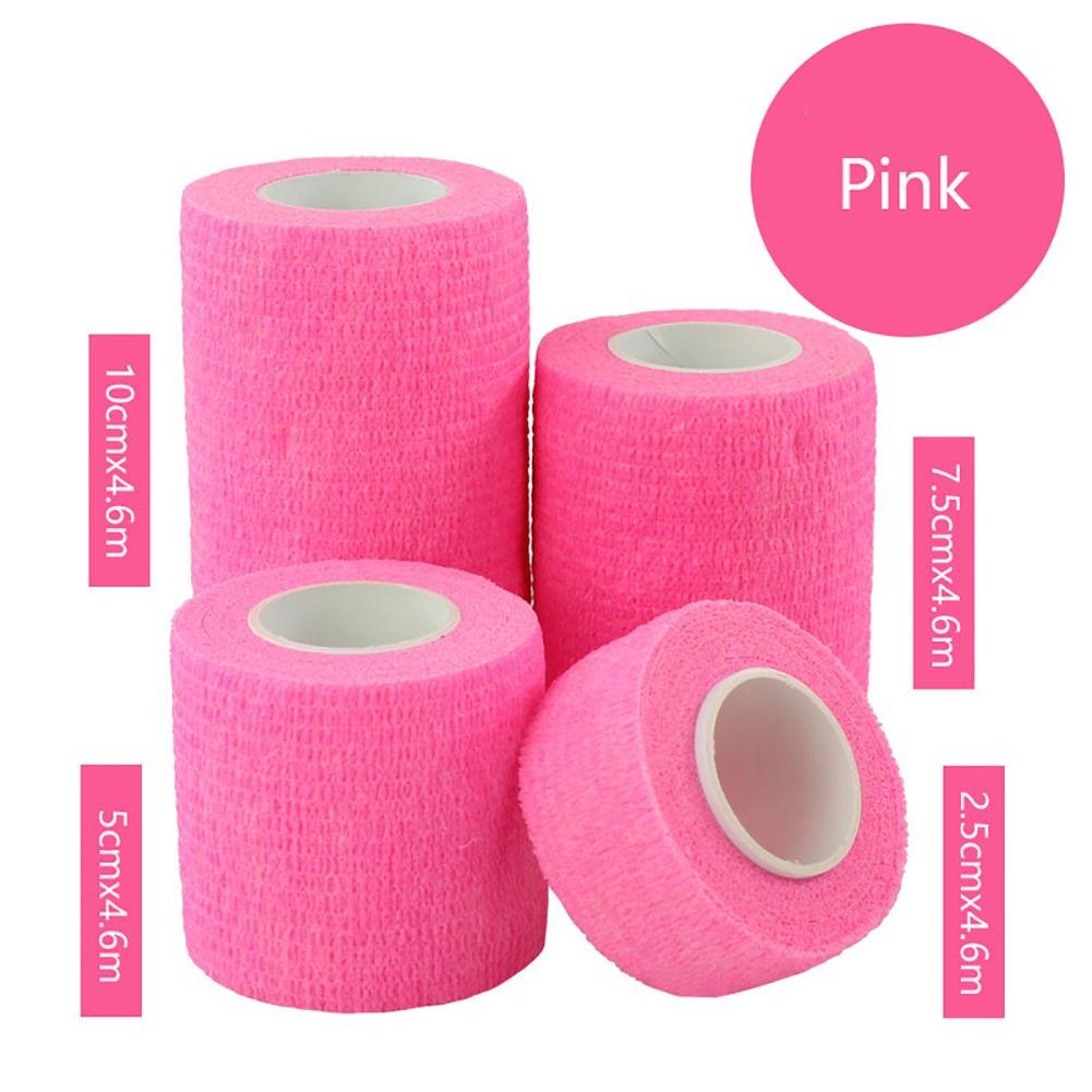 JaneDream Sports Waterproof Breathable Safety Adhesive Flexible Elastic Bandage First Aid Medical Health Care Gauze Protect Finger Wrist Ankle Knees Tape S 2.5cm Pink