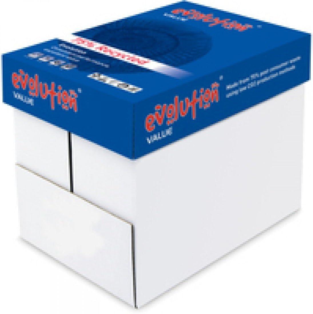 Evolution - Caja de folios (A4, 80 g/m²), color blanco: Amazon.es: Oficina y papelería