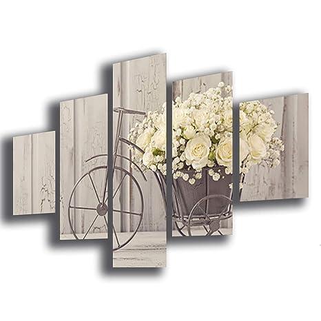 Quadro Moderno SHABBY CHIC camera da letto vintage fiori ...