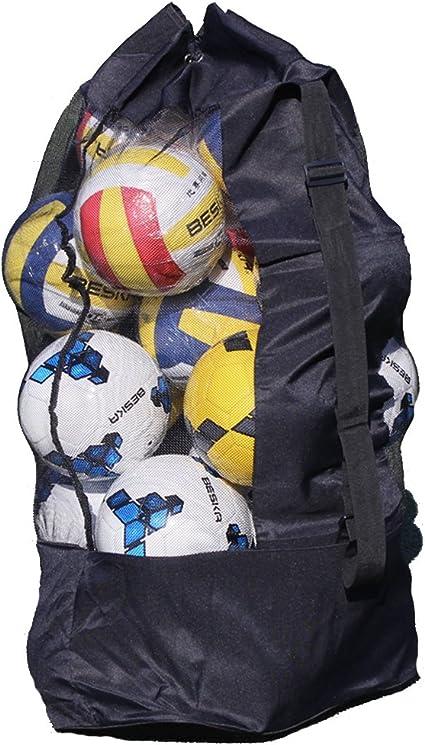 Heavy-Duty Mesh Equipment Bag Sports Balls Basketball Soccer Football Storage