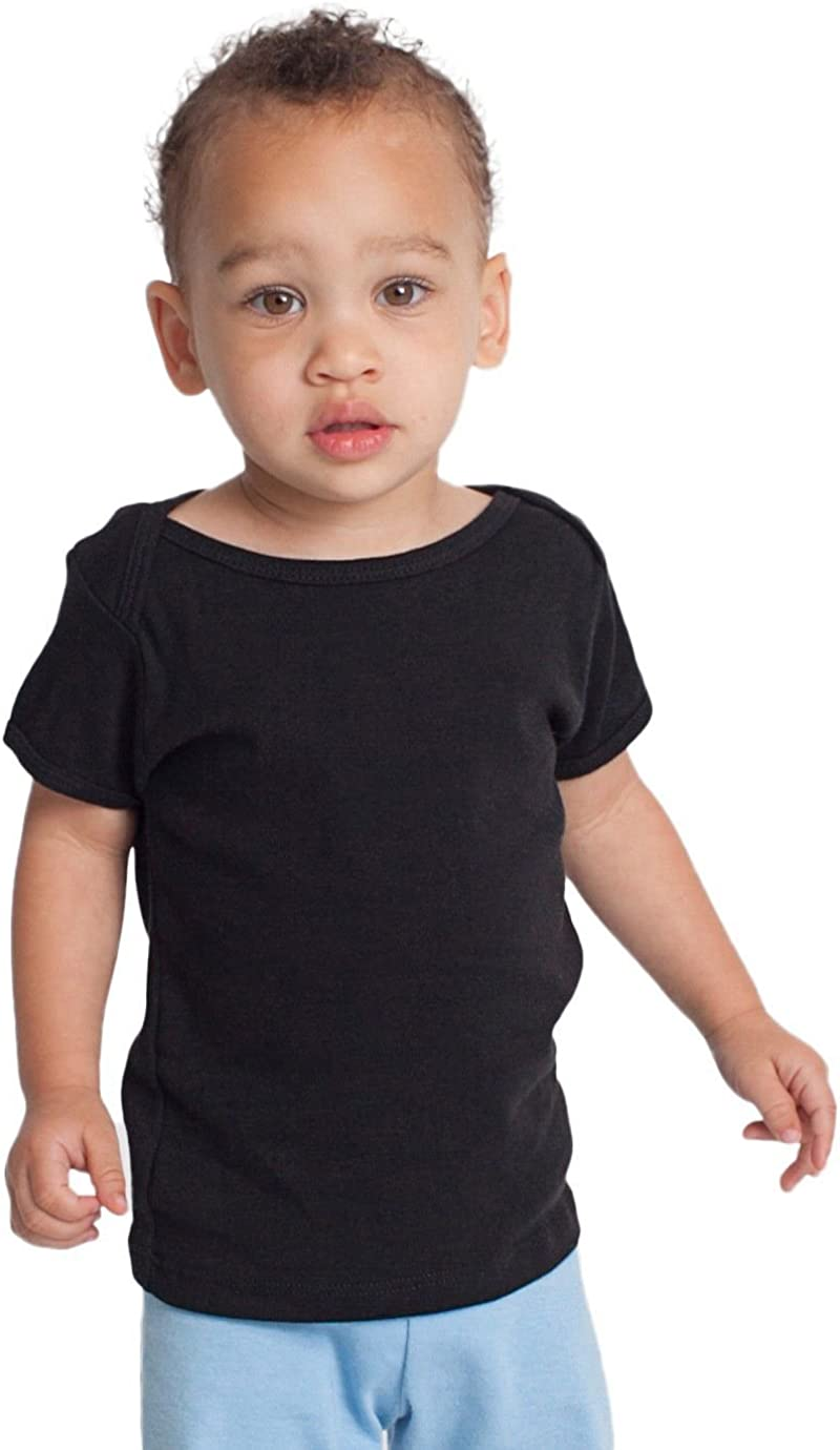 American Apparel Kids Infant Baby Rib Short Sleeve Lap
