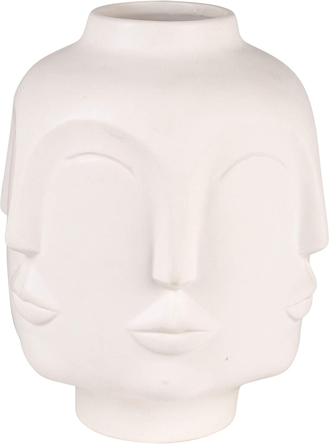 Home Essentials 28439 Multi Facial Vase, 7-inch Height