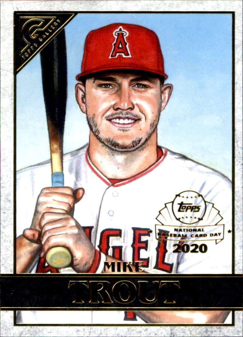 2020 Topps Chrome Gallery Preview #GP-1 Mike Trout Los Angeles Angels Baseball Card