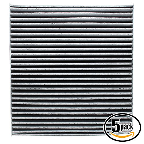5-Pack Replacement Cabin Air Filter for 2004 Nissan Maxima V6 3.5 Car/Automotive - Activated Carbon, ACF-10140