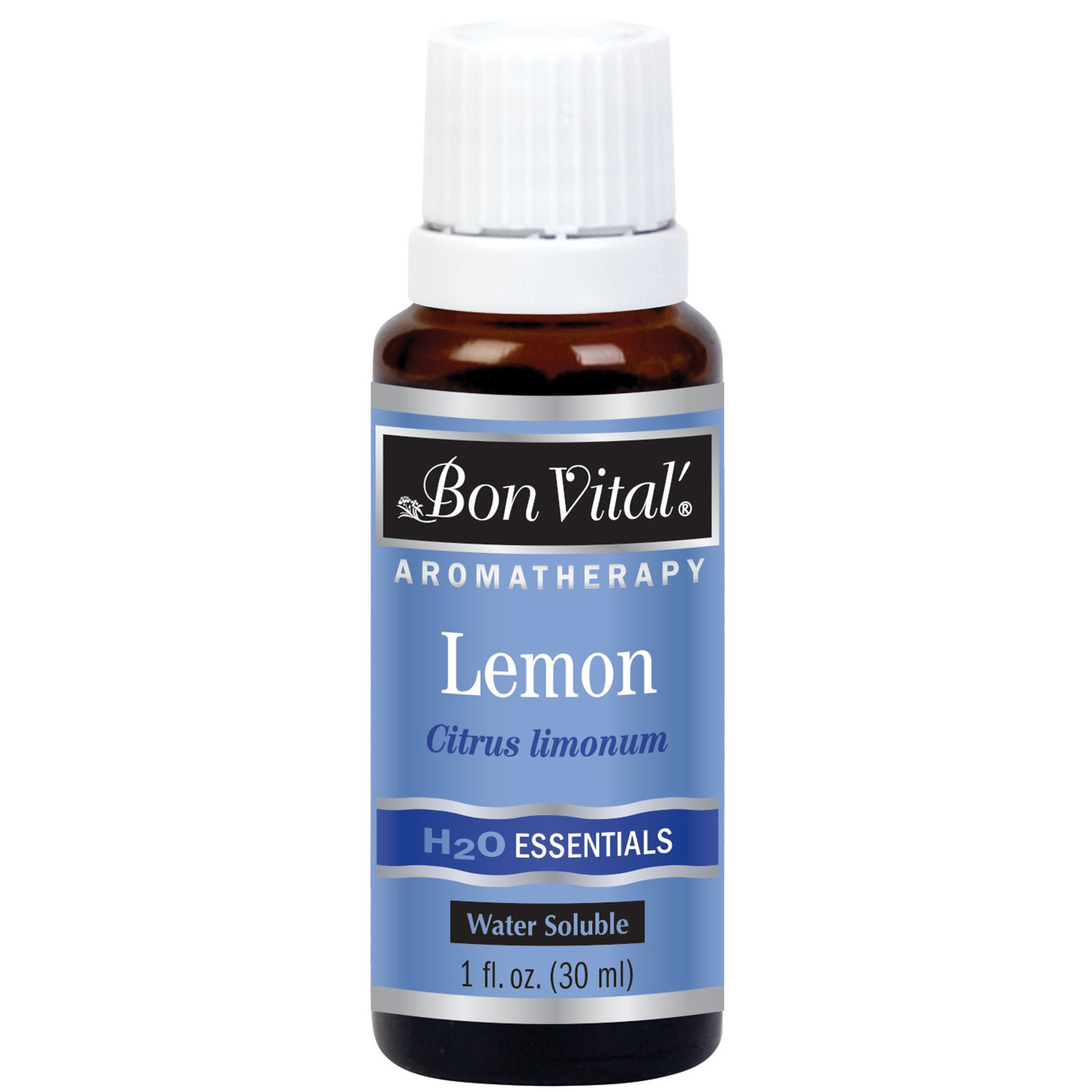 Bon Vital' Aromatherapy Lemon H2O Oil, Best Essential Oil Blends with Water, Oil for Uplifting Astringent Heals Varicose Veins, Add to Facial Steamer, Whirlpool, Pedicure Tub, and Steam Room, 1 Ounce