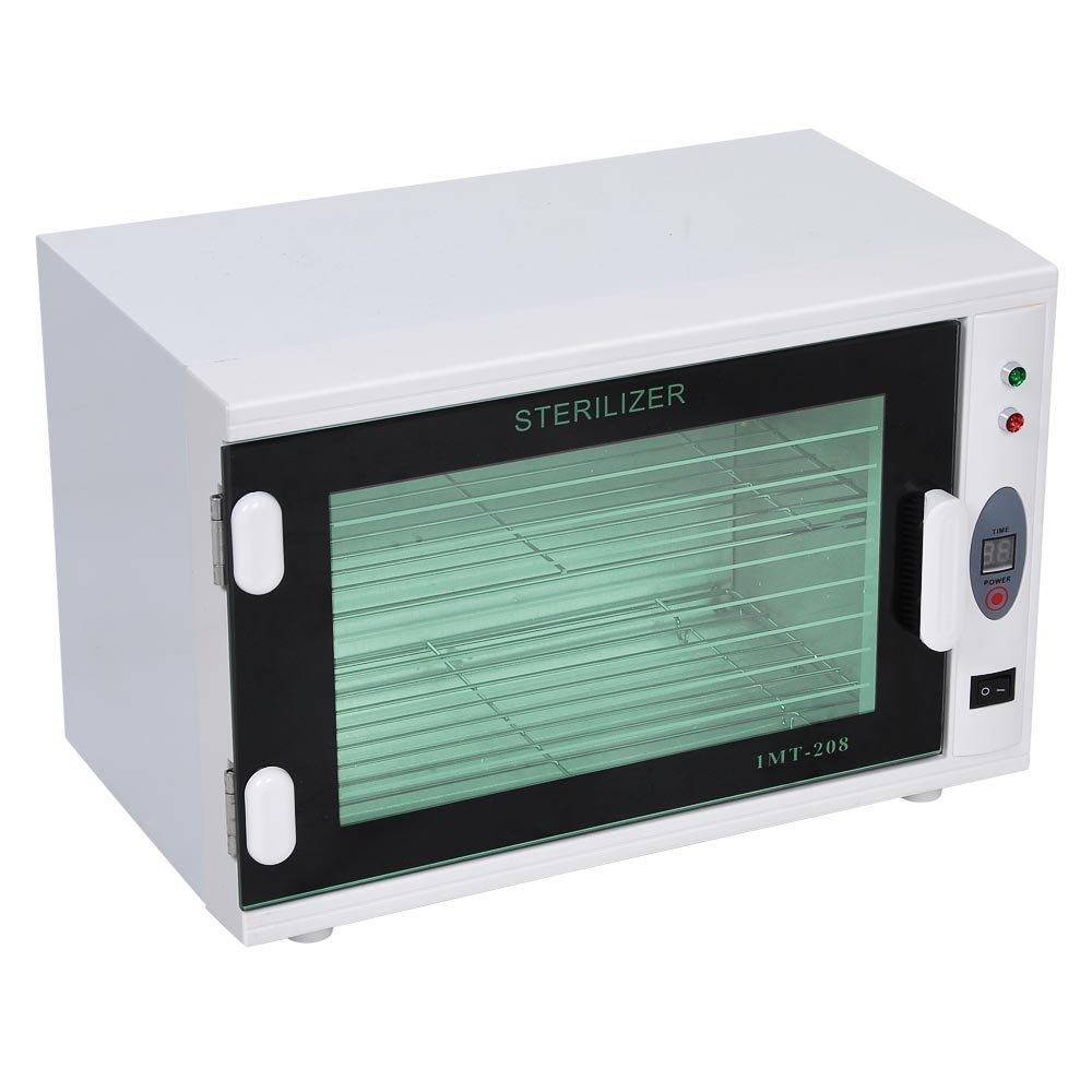 ZeHuoGe Electric UV Tool Towel Sterilizer Cabinet Adjustable Timer Removable Double Racks 8L For Spa Salon Massage Commercial Family US Delivery by ZeHuoGe (Image #3)