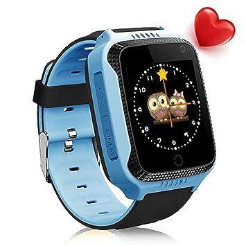 Smartwatch GPS para ninos Con HD Camara Linterna SOS 2G SIM ...