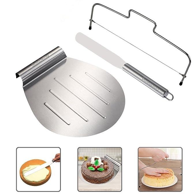 Goldbeing Kuchenheber Set inkl. Streichpalette Zum Sicheren Anheben von Tortenböden - Kuchenretter Edelstahl - Tortenheber mi