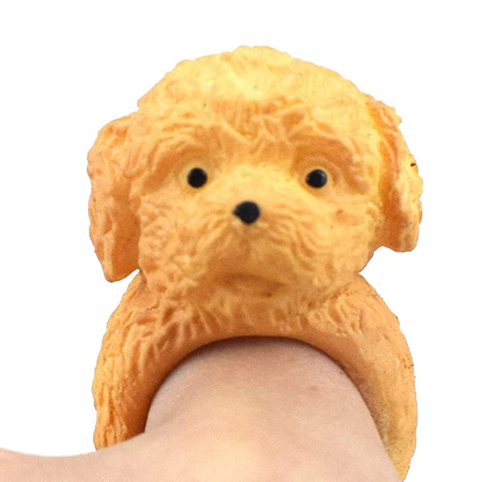 Amazon.com: LtrottedJ Shari Pi Dog Hand Puppets Role Play Realistic Dog Head Ring Head Finger Soft Toy: Toys & Games