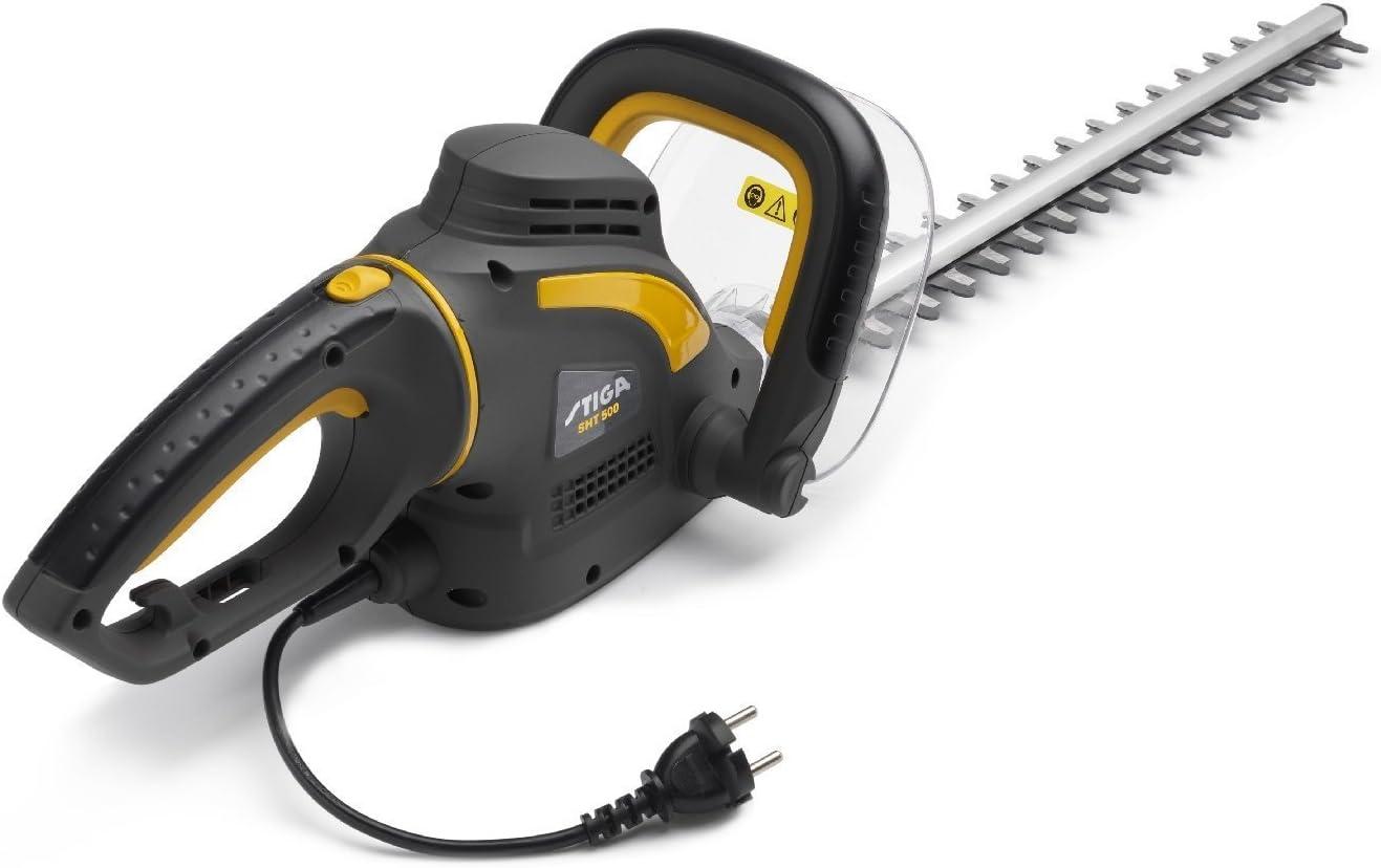 Stiga SHT 500–Cortasetos eléctrico 500W con Doble Hoja de Acero de 45cm (256050002/14)