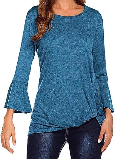 FAMILIZO Camisetas Mujer Invierno Mujer Camisa 3/4 Campana ...