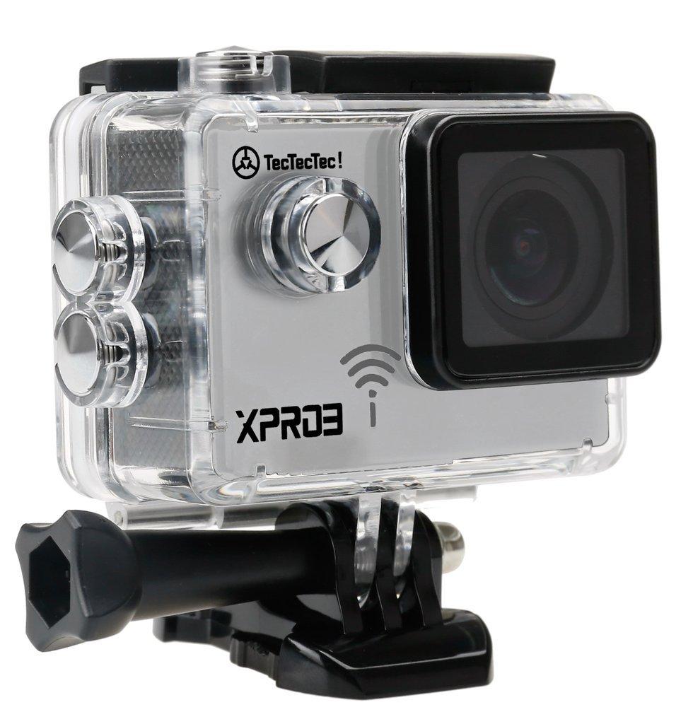 TecTecTec!® XPRO3 Videocámara Deportiva 4K Ultra HD WiFi con Carcasa Sumergible
