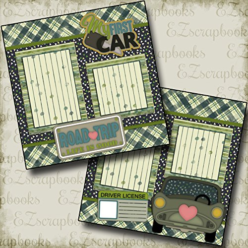 (My First Car - Premade Scrapbook Pages - EZ Layout 531)