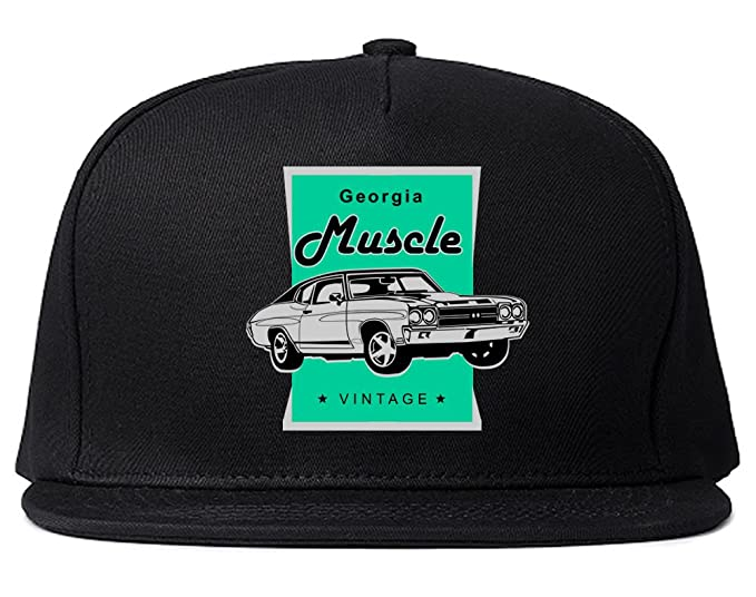 save off 02664 43e46 ... store vintage georgia muscle car classic garage snapback hat cap black  51a6d 9e122