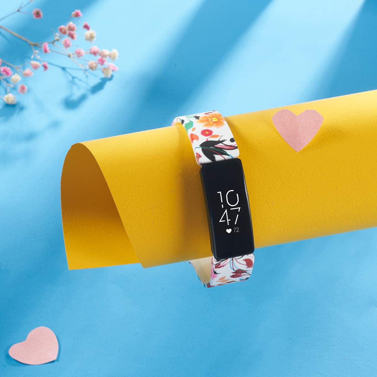 Women Men Floral Print Replacement Strap Accessories Wristband Small Large for Inspire HR /& Inspire Allbingo Cute Bands Compatible with Fitbit Inspire HR /& Inspire /& Ace 2