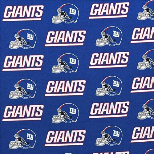 New York Giants Drapes - 100% Cotton NFL Sports Team New York Giants Blue Multi-Print Window Valance Panel/Kids Nursery Window Treatment Decor (16