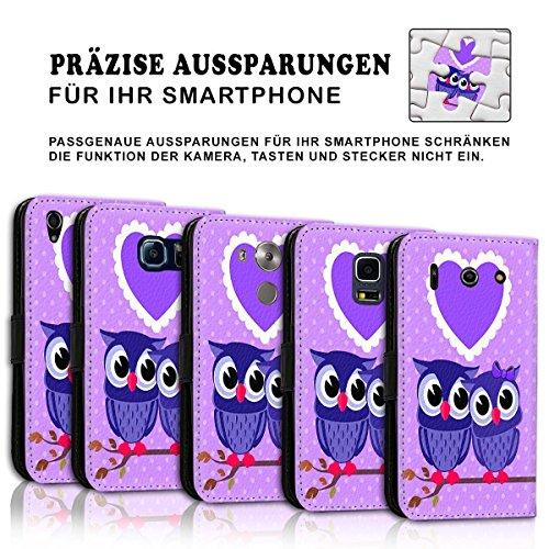 Wallet Book Style Flip Handy Tasche Case Schutz Hülle Schale Motiv Etui für Apple iPhone 6 Plus / 6S Plus - Design Flip MVD329
