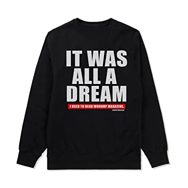 Notorious big biggie smalls it was all a dream 2 0 sweatshirt hip hop stickers