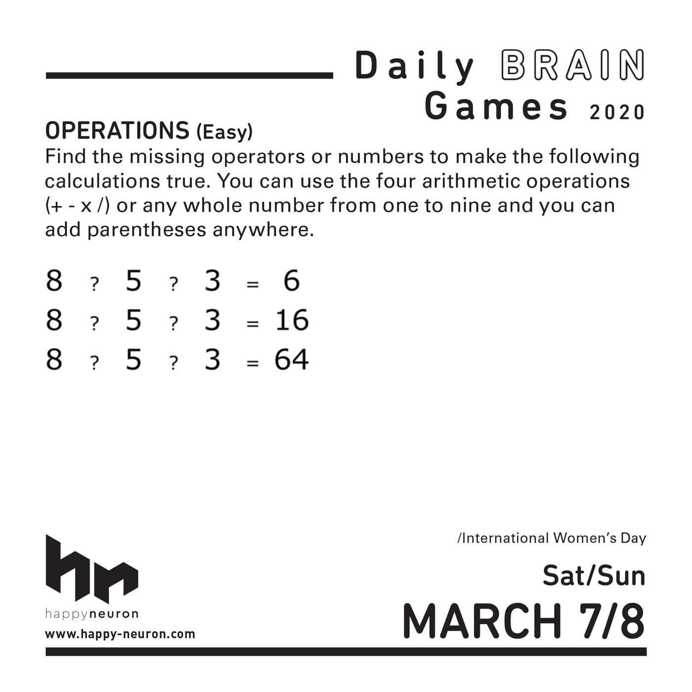Nyit Calendar 2022.Daily Brain Games 2020 Day To Day Calendar Happyneuron 0050837424586 Amazon Com Books