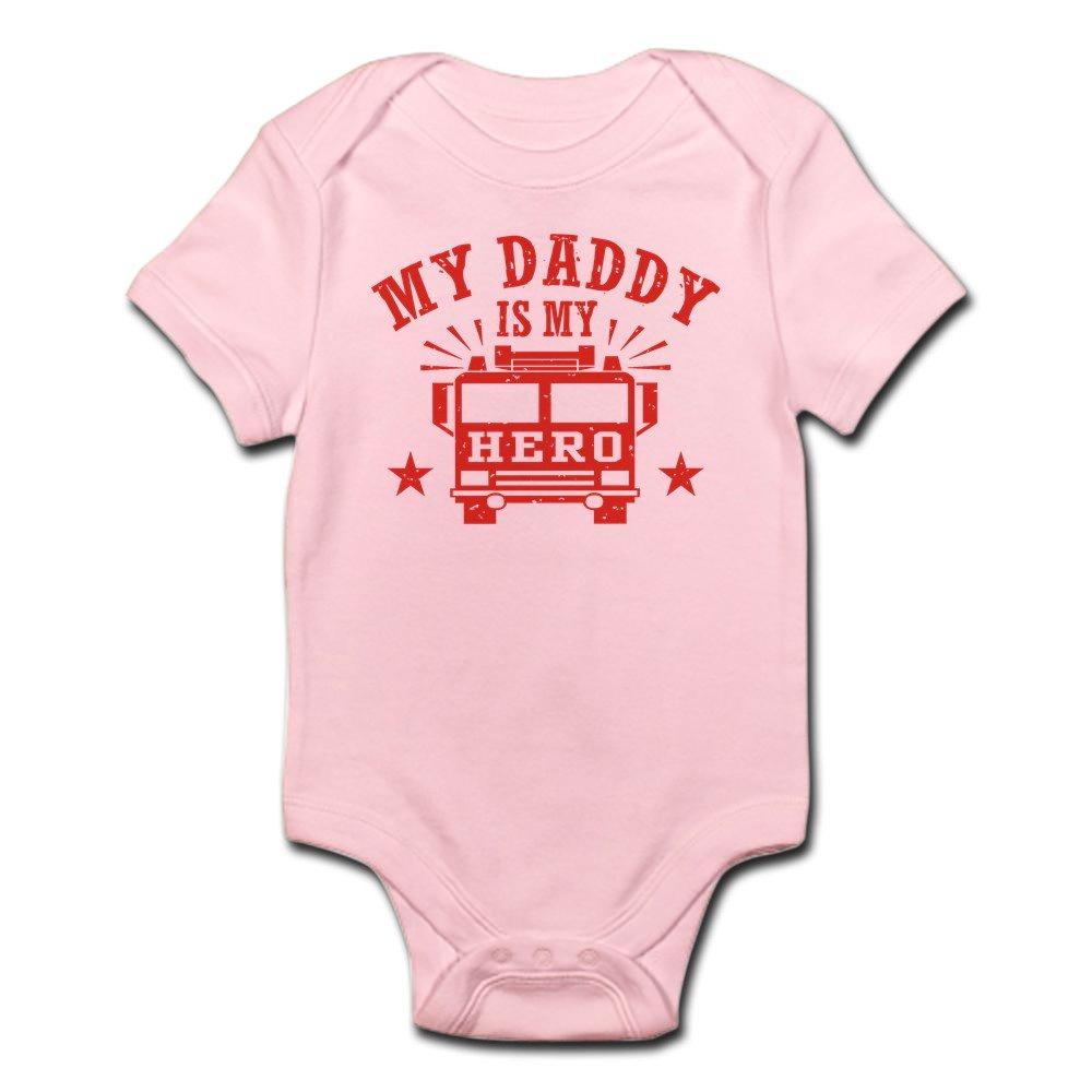 CafePress - My Daddy Is My Hero Firefighter - Cute Infant Bodysuit Baby Romper