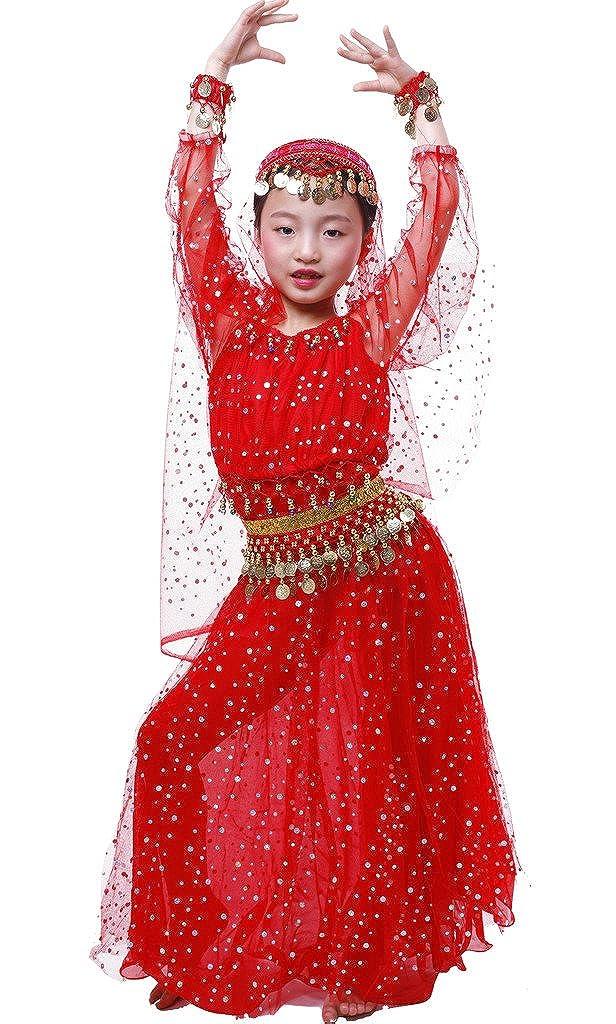 Astage Ragazza Vestito Danza Bambina Elegante Costume Per Danza Del Ventre