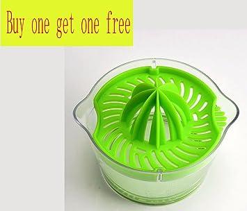 Compra ZSKY Plástico Verde Vaso De Jugo Manual Hogar Exprimiendo Naranjas Exprimidor Exprimidor De Limón Hecho A Mano Jugo De Fruta Prensado en Amazon.es