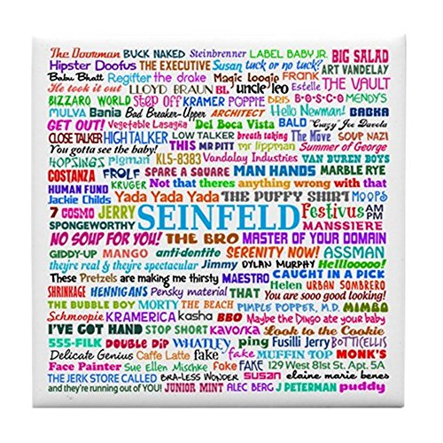 CafePress - Best Of Seinfeld - Tile Coaster, Drink Coaster,